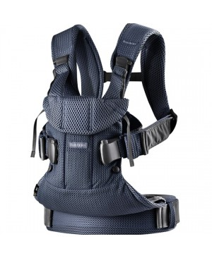 Рюкзак-кенгуру BabyBjorn Baby Carrier One Air Navy Blue Mesh, синий купить Киев