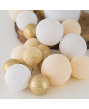 Гирлянда Premium Touch of Gold, Cotton Ball Lights